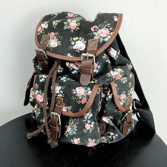 9902c8b1e Douguyan Bags | Floral Canvas Backpack | Poshmark